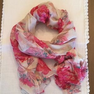 Rose floral graphic scarf